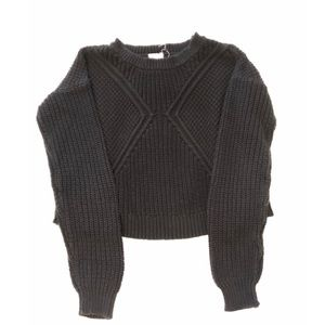 Black cropped knit sweater form urban outfitters